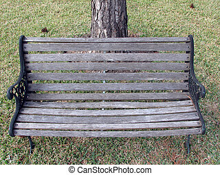 Garden Chair With Tree On The Back