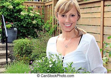 garden.., dame, jardinier