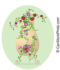 garden decoration - an illustration of a decorative garden ...