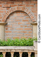 Garden Decoration in different corners of brick clay.