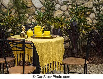 garden decorative background house
