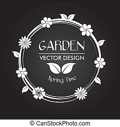 garden design over black background vector illustration