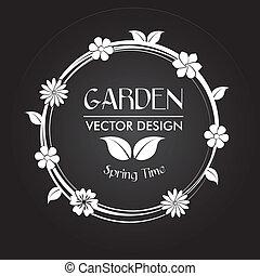 garden design over black background vector illustration