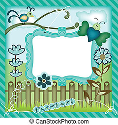 Garden digital scrapbook layout
