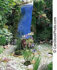 Waterfall garden feature