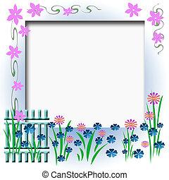 garden fence frame - garden fence flowers and vines border...