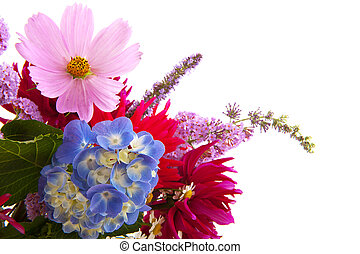 Garden flower bouquet with Hydrangea cosmos and others