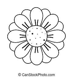 garden flower nature line style icon