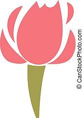 Red rose flower floral blossom beautiful nature garden plant illustration.