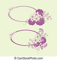 Garden flowers and herbs banners. Vector illustration.