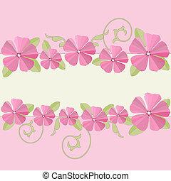Garden flowers frame. - Pink flowers frame background. ...