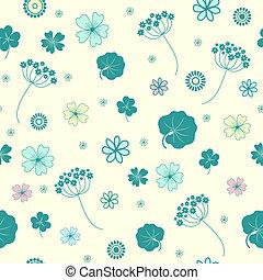 Garden flowers seamless background.