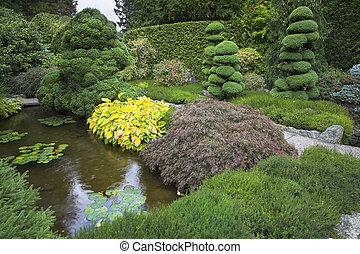 garden., footpath