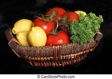 Garden Fresh - Fresh produce in a basket