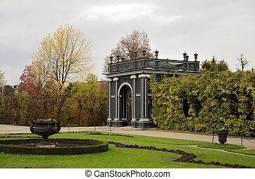 Garden Gate in Sch?nbrunn Palace - A Fall view of the Garden...