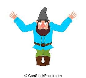 Garden gnome confused emoji oops. dwarf perplexed emotions. ...