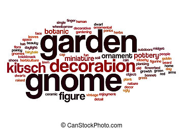 Garden gnome word cloud