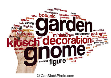 Garden gnome word cloud