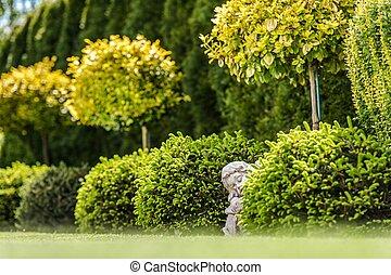 Garden Gypsum Figure - Garden Gypsum Angel Figure. Backyard...