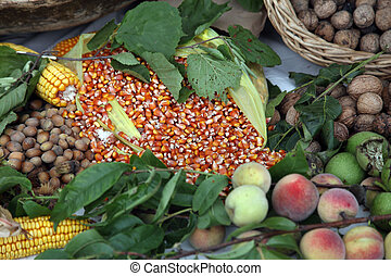 Garden harvest of homegrown produce, exposed for sale in Scitarjevo, Croatia