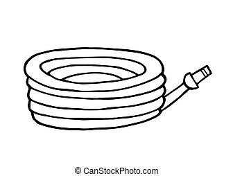 Garden Hose - Outlined Garden Hose
