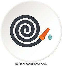 Garden hose icon circle
