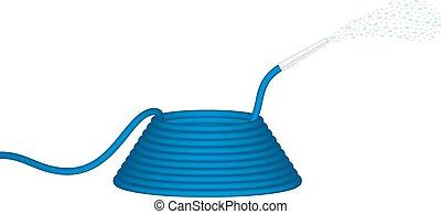 Garden hose in blue design