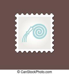 Garden Hose stamp. Outline vector illustration