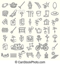 Garden icon tool set