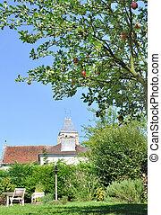 garden in french village
