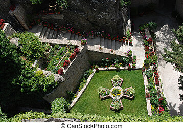 Garden in Monastery