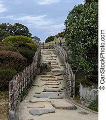 Garden in Okayama, Japan - Japanese garden in Okayama, Japan