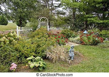 Garden in the Fall Season