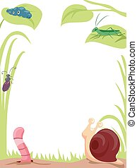 Garden Insects Background Illustration