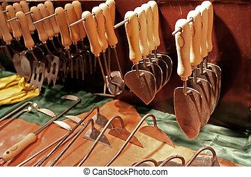 garden instruments - garden inventory in shop for...
