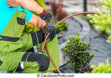 Garden Irrigation Pipeline