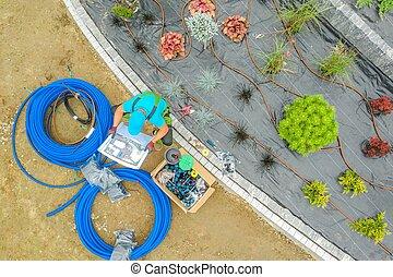 Garden Irrigation System Job