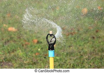 Garden irrigation system or watering sprinkler