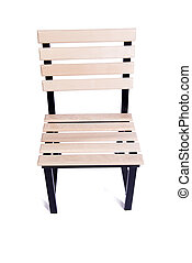 Garden kitchen chair isolated on white background