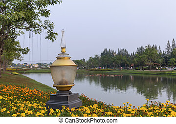 Garden Lamp in Public Park