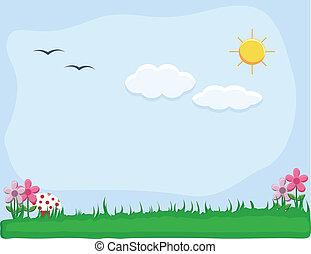 Garden Landscape Nature Background