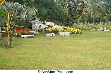 garden., landscaped, park
