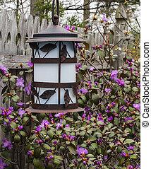 Garden Lantern In Spring