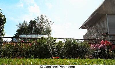 Garden lawn water sprinkler - Automatic garden lawn...