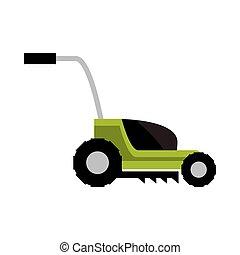 garden lawnmower icon isolated on white background