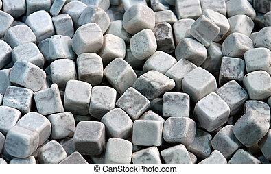 Garden marble cube decorative stones