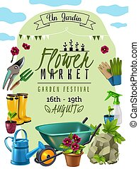 Garden Market Poster