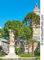 Garden near Cathedral of Catania, - Small garden near Saint...