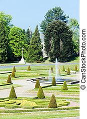 garden of Barnard Castle, North East, England