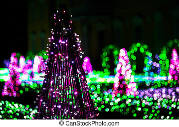 Garden of Colorful Lights